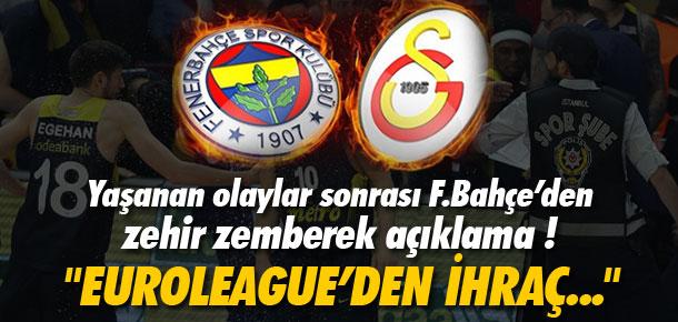 Fenerbahçe'den sert Galatasaray açıklaması !