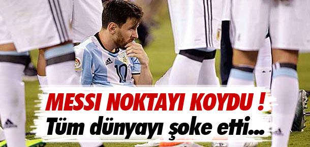 Messi'den şok eden karar !