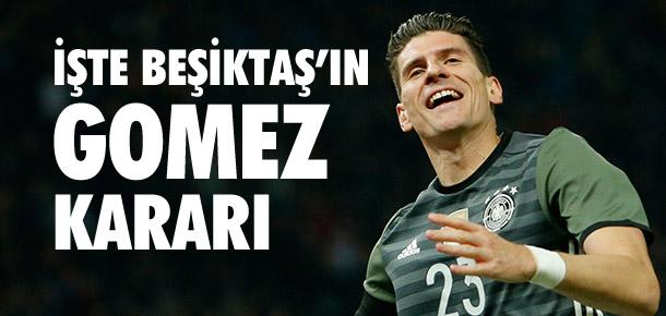 Beşiktaş'ın Mario Gomez kararı