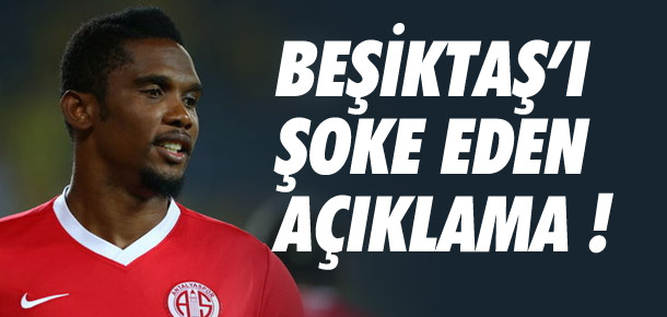 ''Beşiktaş'ın Eto'o girişimini kabul etmiyoruz''