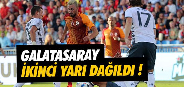 Galatasaray ikinci yarıda dağıldı !