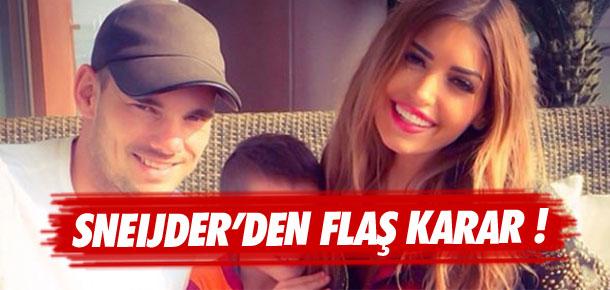 Sneijder'den flaş karar !