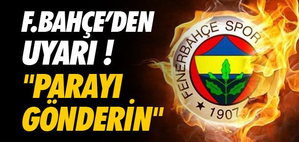 Fenerbahçe'den Valencia'ya uyarı !