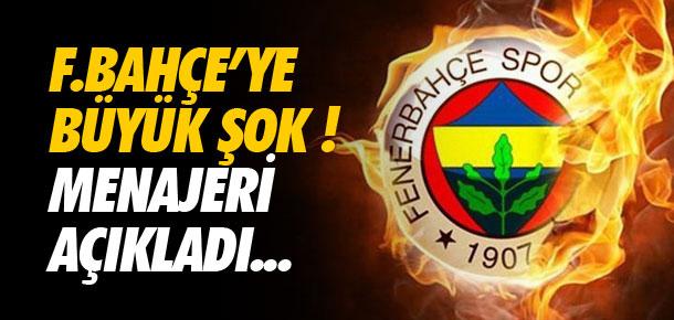 Fenerbahçe'ye büyük şok !