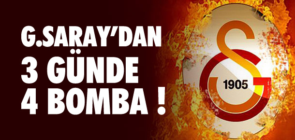Galatasaray'dan 3 günde 4 transfer