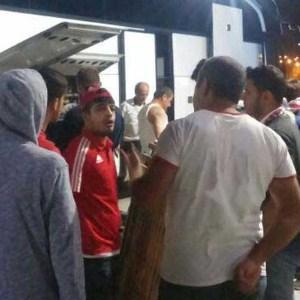 Mersin'de futbolcular şehre döndü