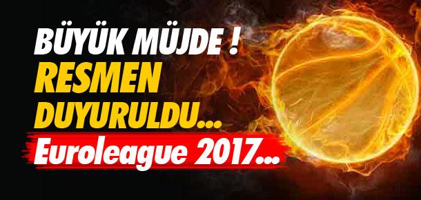2017 Euroleague Final Four İstanbul'da !