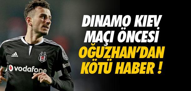 Dinamo Kiev maçı öncesi kötü haber