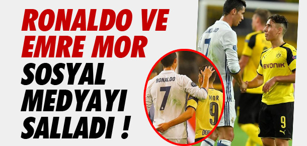 Ronaldo ve Emre Mor sosyal medyayı salladı