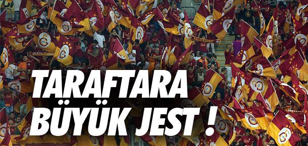 Galatasaray'dan taraftarına büyük jest