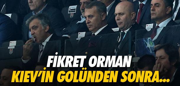 Fikret Orman Kiev'in golünden sonra...