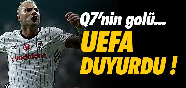 UEFA duyurdu ! Quaresma'nın golü...