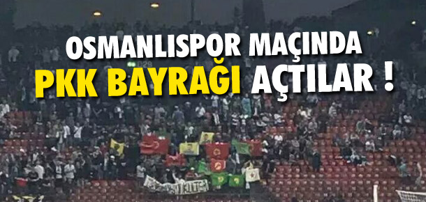 Zürih-Osmanlıspor maçında PKK bayrağı açtılar