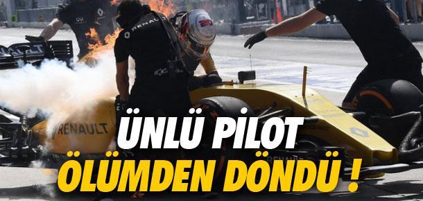 Dünyaca ünlü pilot ölümden döndü !