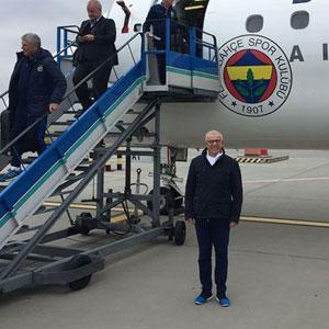Acil iniş yapan Fenerbahçe uçağından ilk görüntüler