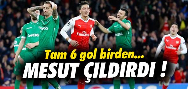 Arsenal, Mesut Özil ile coştu