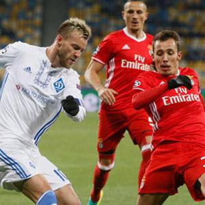 Benfica, Ukrayna'da kazandı
