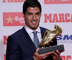 Luis Suarez, ''Altın Ayakkabı''sına kavuştu