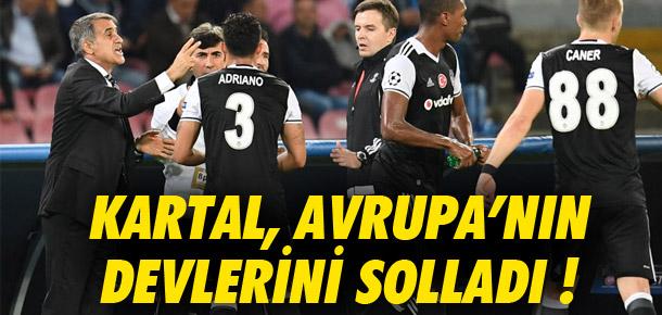 Beşiktaş Avrupa'nın devlerini solladı