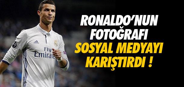 Ronaldo'nun fotoğrafı sosyal medyayı karıştırdı