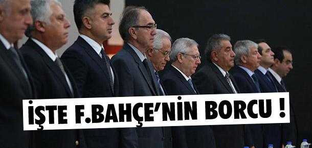Fenerbahçe'nin borcu 321.3 milyon lira