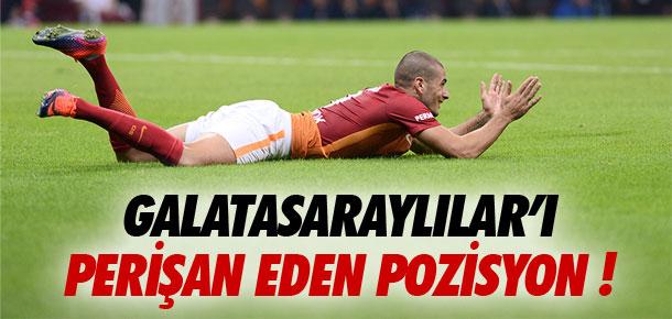 Galatasaraylılar'ı perişan eden pozisyon !