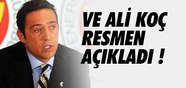Ali Koç başkanlığa adaylığını açıkladı !