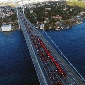 Şehitler Köprüsü'nden muhteşem görüntüler