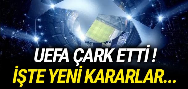 UEFA kurallarda geri adım attı