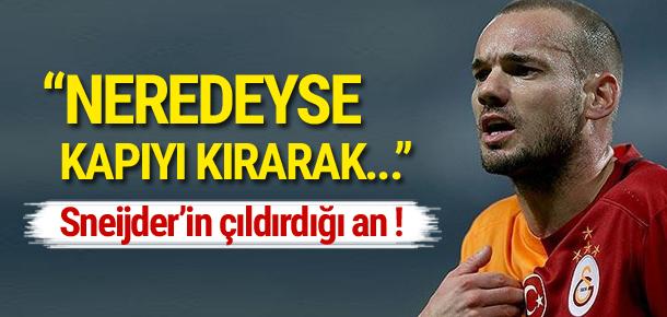 Sneijder'ın çıldırdığı an