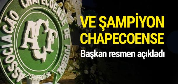 Güney Amerika Kupası Chapecoense'ye verilecek