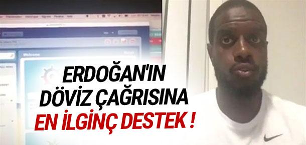 Erdoğan'ın döviz çağrısına en ilginç destek