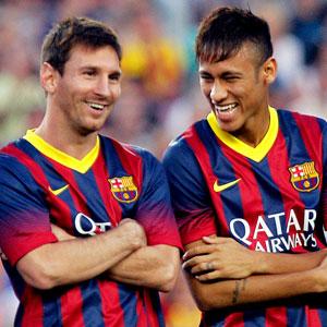 Neymar, Messi'ye fark attı