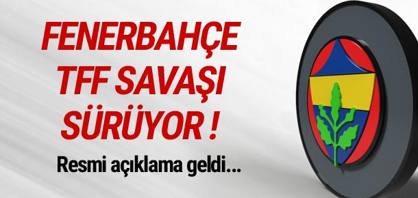 Fenerbahçe - TFF savaşı sürüyor