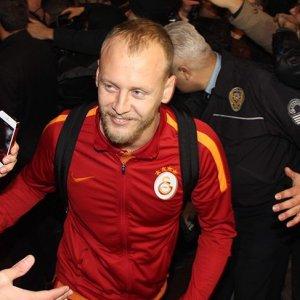 Galatasaray'a coşkulu karşılama