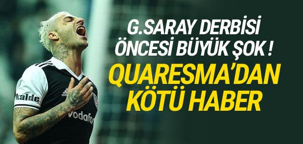 Beşiktaş'ta Quaresma şoku !