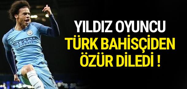 Sane Türk bahisçiden özür diledi !