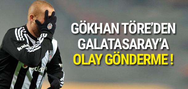 Gökhan Töre'den Galatasaray'a gönderme
