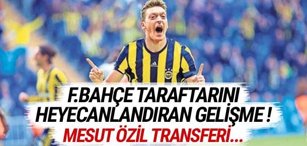 Mesut Özil Fenerbahçe taraftarını heyecanlandırdı