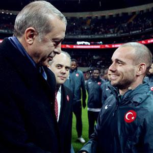 Cumhurbaşkanı Erdoğan'dan Sneijder'e övgü
