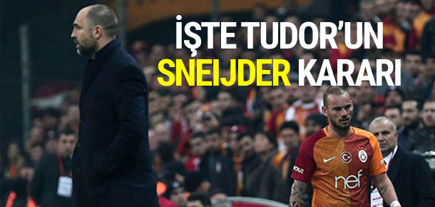 Tudor, Sneijder hakkında son kararını verdi