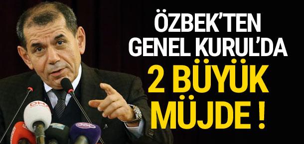 Dursun Özbek'ten Genel Kurul'da iki büyük müjde !