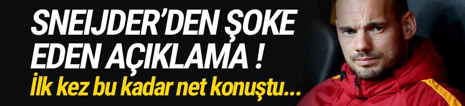 Sneijder ilk kez bu kadar net konuştu