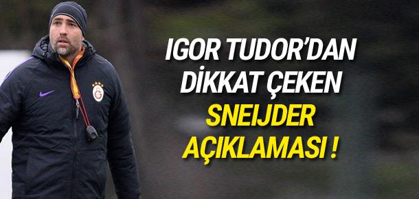 Tudor: Sneijder ile iletişimimiz harika