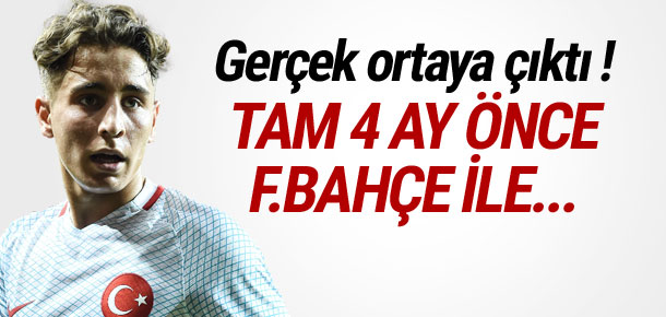 Fenerbahçe Emre Mor ile 4 aydır görüşüyormuş