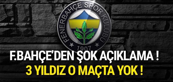 Fenerbahçe'den sakatlık açıklaması
