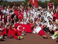 Türk atletlerden Sırbistan'a protesto !